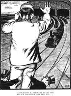 Tekening Albert Hahn, Gansch het raderwerkstaat stil als uw machtige arm het wil
