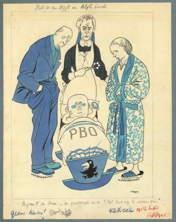 Het is en blijft een lelijk ding - Cartoon van Eppo Doeve in Elseviers Weekblad van 23 januari 1954