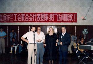 (vlnr) Dick Vusser, Johan van Rens, Hella Liefting en Hans Pont