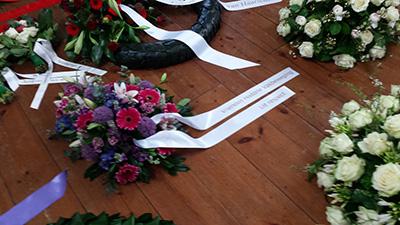 Krans van de VHV ter gelegenheid van herdenking Februaristaking in 2016